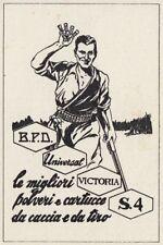Z3732 Cartucce da Caccia Victoria - Pubblicità d'epoca - 1940 old advertising