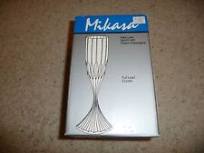 """Mikasa Park Lane SN101/007 Full Lead Crystal Fluted Champagne 6.75"""" 4-pc/Pc"""