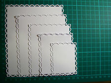Tattered Lace Pearl Layering Rectangle Die Cuts - CREAM - NOT THE DIES