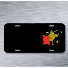 Bull Animal Mammal Domestic Cattle On License Plate Car Front Add Names
