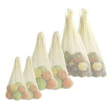 Reusable Mesh Produce Washable Fruit and Veg Bags Grocery Storage Shopping G0Z0