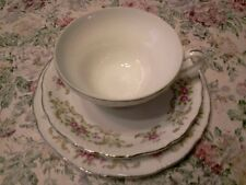 Style House Fine China Rose Barque. Bread plate, Tea Cup, & Saucer. From Japan.