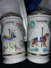 Lot Of 2 Lenox Spice Carousel Jars Coriander And Nutmeg