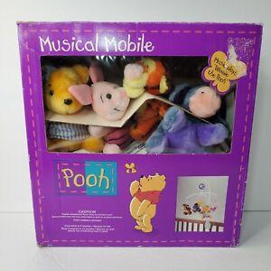 Musical Mobile Baby Crib Disney Winnie the Pooh Piglet Tigger Eeyore Pre-owned