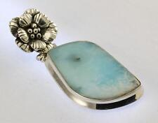 LARIMAR PENDANT 925 STERLING SILVER ARTISAN JEWELRY COLLECTION R717A