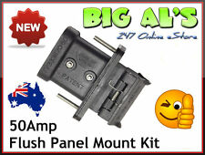 50Amp Anderson Plug FLUSH PANEL DASH Mounting Mount Kit Bracket Dust Cap Cover