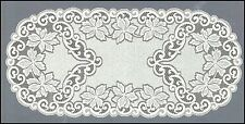 "Ovale, Bianco, Pizzo, TABLE RUNNER NUOVO (60 x 120 cm) (23,5 ""X 47""), elegante regalo"