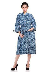 Women Floral Printed Sexy Bath Robe Dress Night Gown Sleepwear Lingerie Swimwear