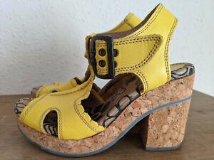 Fly London Sunshine Yellow Sandals ~ 37/UK4