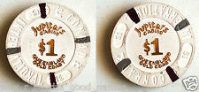 1995 JUPITERS CASINO Composite $1 POKER CHIP - CONRAD INTERNATIONAL HOTEL