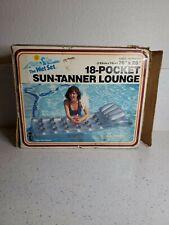 Vintage 1985 The Wet Set Inflatable 18 Pocket Suntanner Lounge Pool Raft Intex
