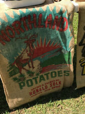 12 Northland Point Buck Deer Hunting - 100 lb Burlap Potato Sack Bag-Potatoes