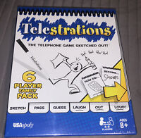 Telestrations The Telephone Game Sketched Out USAopoly 6 Player Family Pack New