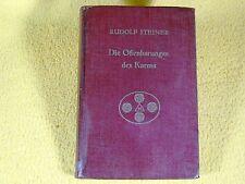 Rudolf Steiner - Offenbarungen des Karma - 1932 - Anthroposophie
