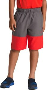 NWT Boys Youth The North Face Class V Red Grey Shorts Sz Small S 7 - 8