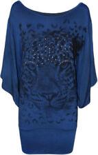 T-shirt, maglie e camicie da donna blu basici taglia 46