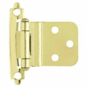 "Brass Self-Closing 3/8"" Inset Hinge Brainerd H0104AV-PB-O3 (Pair)"