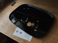 Vintage Japanese Lacquerware Tray. Maki-e Gold and Black. Meij Era Obon Wooden