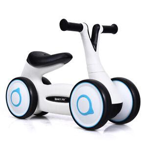 Baby Balance Bike Bicycle Mini Children Walker Toddler Rides No-Pedal White