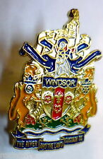 PIN * City of Windsor Coat of Arms * Ontario / souvenir pinback pins town Canada