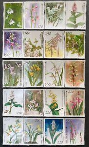 South Korea 2001-2005 Full Korea Orchid Fragrant stamp sets 5 x 4 Flower
