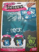 Nip Rocker Chick Zip Screens Simple Screen Printing System Fashion Art