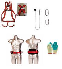 4in1 SET Sicherheitsgurt Klettergurt Kletterausrüstung Baumpflege Fallschutz