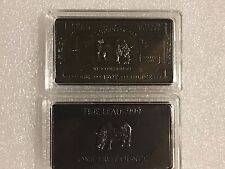 1 Troy Ounce Lead Rhino .999 Art Bar