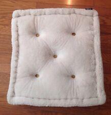 "LOVESAC  Double-Sided Bed/Floor Pillow 26"" x 26"" x 6""  Beige Faux Fur NWOT"