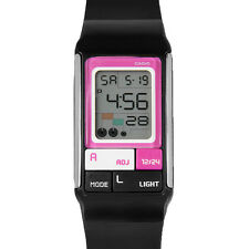 Casio Women's Poptone Alarm Stopwatch Digital Pink on Black Resin Watch LDF52-1