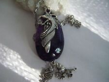 Agate Gemstone Charm Costume Necklaces & Pendants