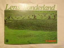 Canon FD Lens Guide Book - Lens Wonderland brochure and Price List 1982