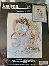 Janlynn Counted XStitch Kit, WALK WITH AN ANGEL,#80-394, repacked, Stoney Creek