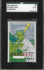 OVERPRINT BLANK BACK ERROR CARD 1951 BOWMAN JETHROE LOPAT GRADED SGC AUTH *ABC
