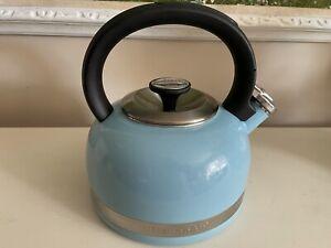 KitchenAid 2 qt Tea & Whistling Kettle- Cameo Blue Full Handle-Trim Band