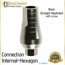 50 Straight Abutments 9mm with Hexagon Include screw for Dentistry & Laboratory