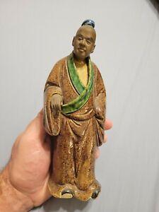 Antique Chinese Mudman Shiwan China Vintage Pottery Rare WOW!