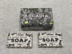Beekman 1802 ARCADIA Pure Goat Milk Soap FULL SIZE 9oz Bar + 2 Vanilla Absolute