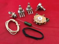 Upgrade Wiring Kit For Fender Stratocaster .047uf PIO Cap Pots Switch Wire Jack
