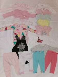 Baby Girl Clothes Bundle 3-6 Months Sleepsuits  autumn winter #33