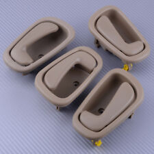 4x Inside Inner Door Handle Grey Beige For Toyota Corolla Chevrolet Prizm 98-02