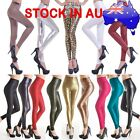 New Fashion Sexy Lady Leather Look High Waist Leggings Pants Tight Ladies Womens
