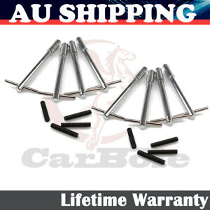 8Pcs Aluminum Alloy Valve Cover T-Bar Wing Nut Bolts For Chevy SBC BBC Silver