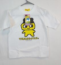 Vintage 1997 Bandai TAMAGOTCHI Yellow MAMETCHI T-Shirt Size 130 Youth NEW w TAG