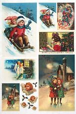 Rice Paper -Merry Christmas Angel- for Decoupage Decopatch Scrapbook Craft Sheet