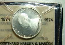 1974   Repubblica Italiana    500  lire  Marconi   in confezione  della  zecca