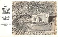 RPPC Los Angeles County Hospital, CA Stan Davis Photo ca 1940s Frashers Postcard