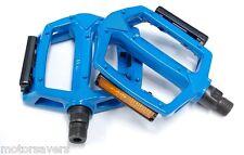 LIGHT BLUE Wellgo Metal BMX / ATB / FIXIE Pedals - 9/16 (3 Piece Crank)