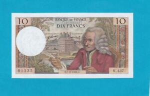 Billet 10 francs Voltaire - 07-11-1968