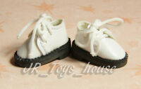 White Shoes D30 fits Lati Yellow blythe barbie momoko